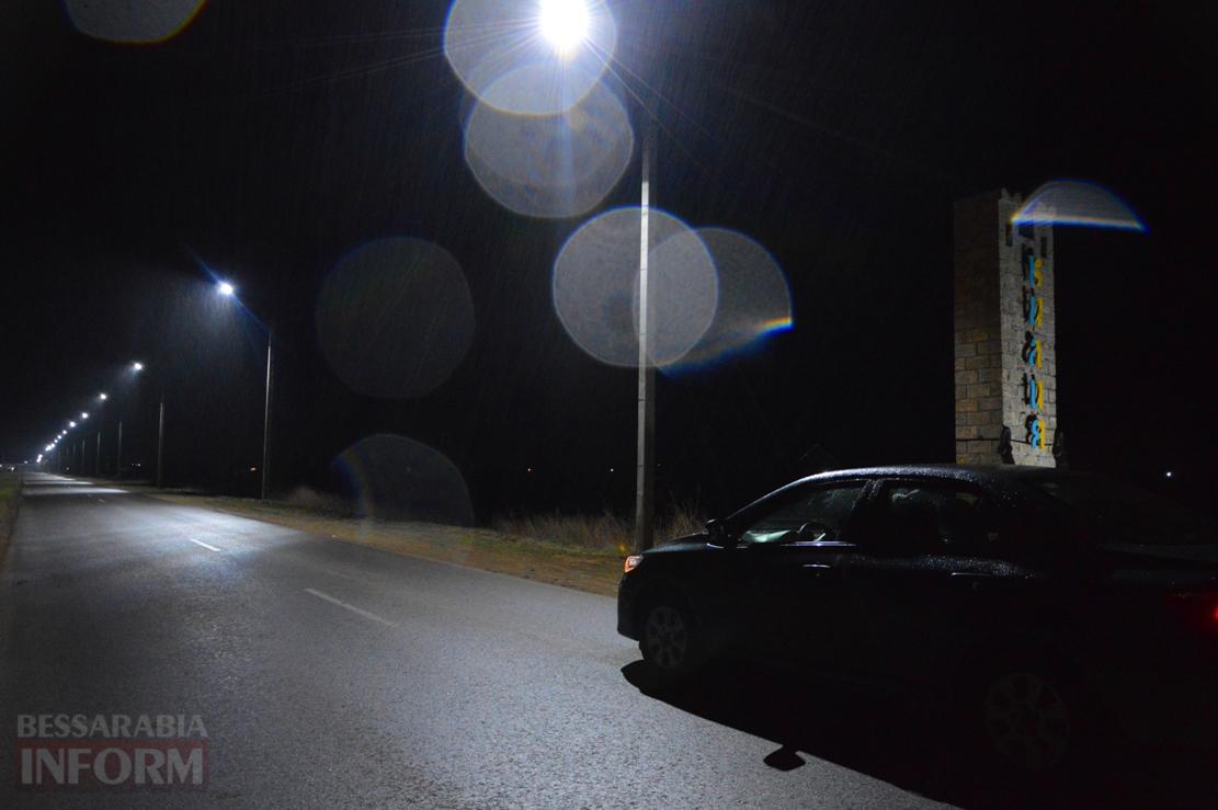 Линия LED освещения установлена в Килии от въездного знака до автостанции