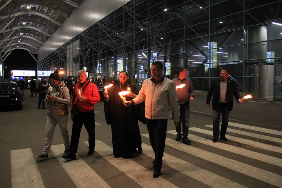 Благодатный огонь уже везут в Измаил
