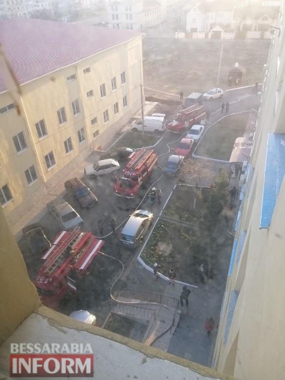 В Белгород-Днестровском произошел пожар в 12-ти этажном доме