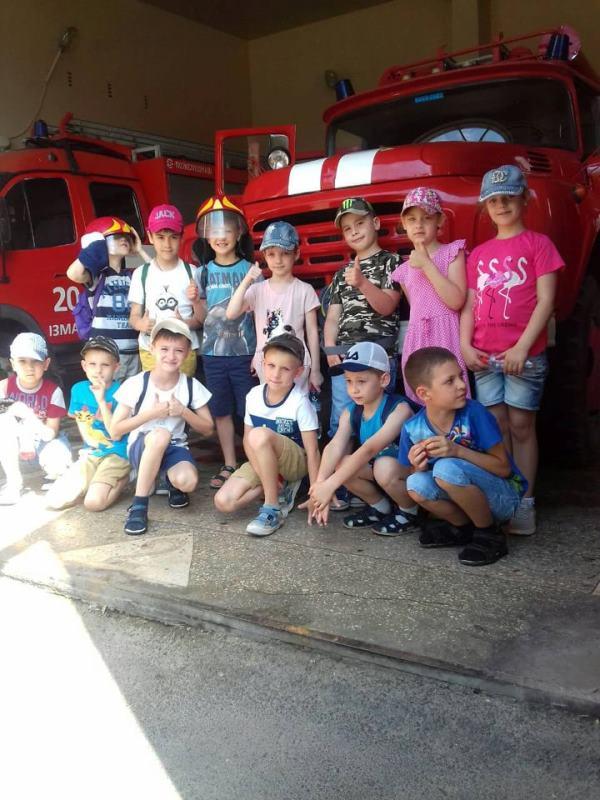 В Измаиле спасатели провели экскурсию в пожарной части для детей пришкольного лагеря