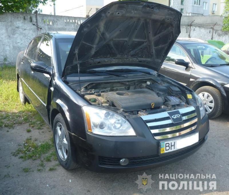 В Аккермане в территориальном сервисном центре МВД обнаружили причастное к ДТП авто