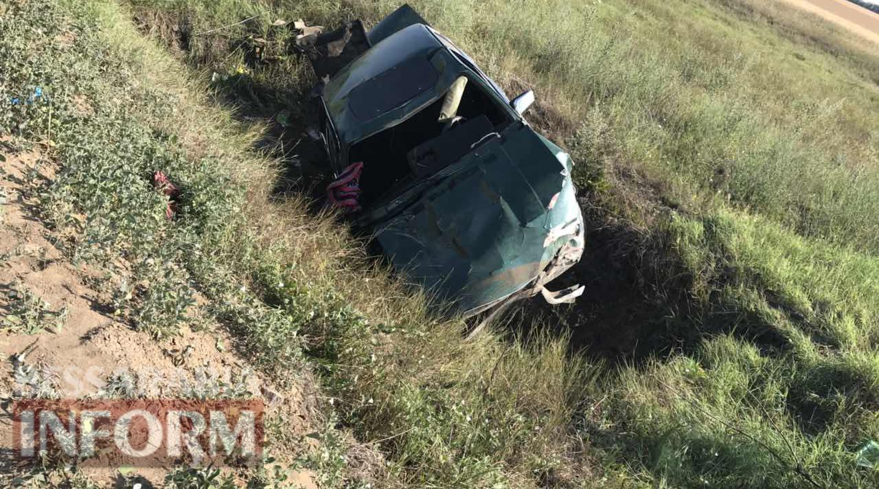 На трассе Одесса-Рени слетел в кювет и несколько раз перевернулся автомобиль