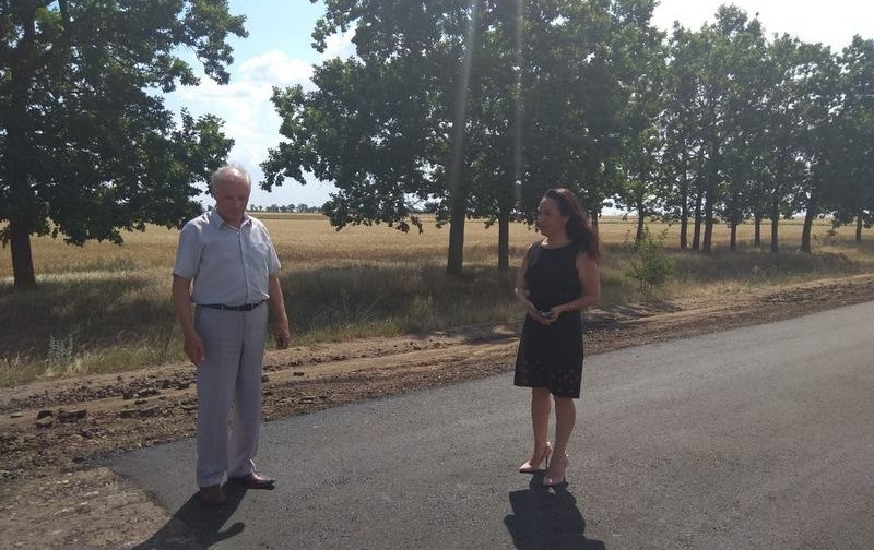В Килийском районе ремонтируют дорогу на село Червоный Яр