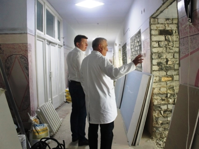 В Арцизе на базе ЦРБ полным ходом стартовал капремонт детского отделения