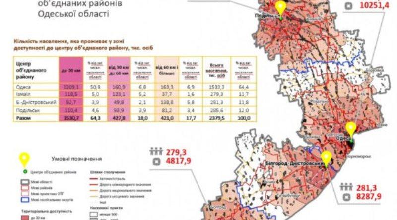 Укрупнение: в Одесской области останется всего 4 района с центрами в Измаиле, Аккермане, Подольске и Одессе