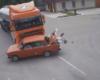 На выезде из села Шевченково Килийской ОТГ молоковозка протаранила «Жигули» (момент аварии)