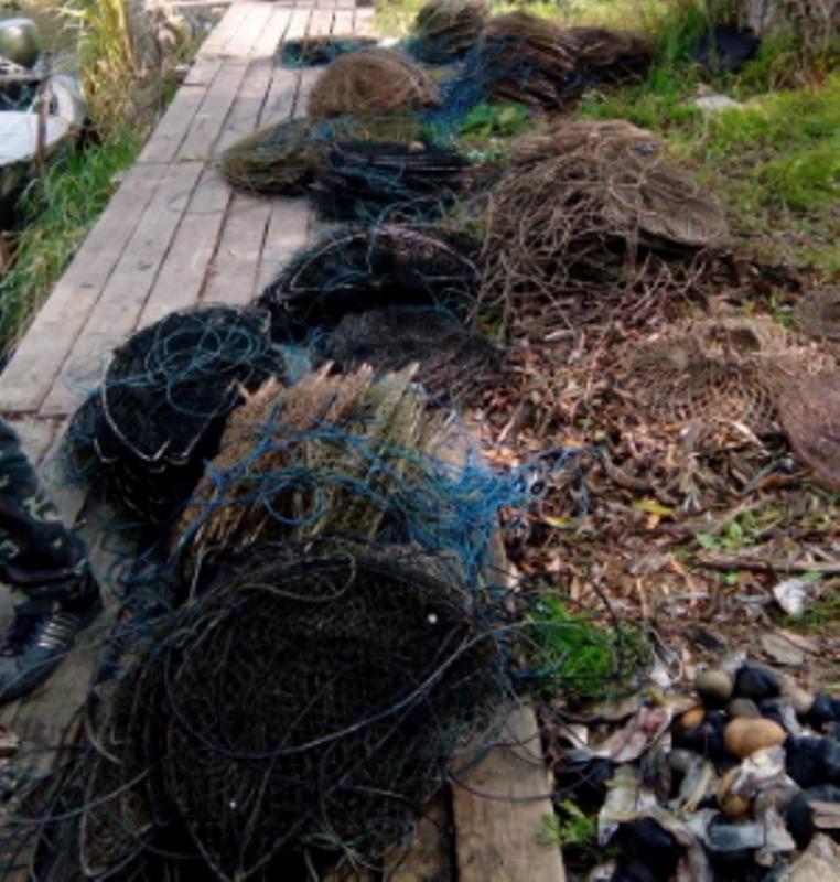 На Днестровском лимане в пределах одного из сел Белгород-Днестровского района изъяли 51 сеть на рака с 19 кг улова