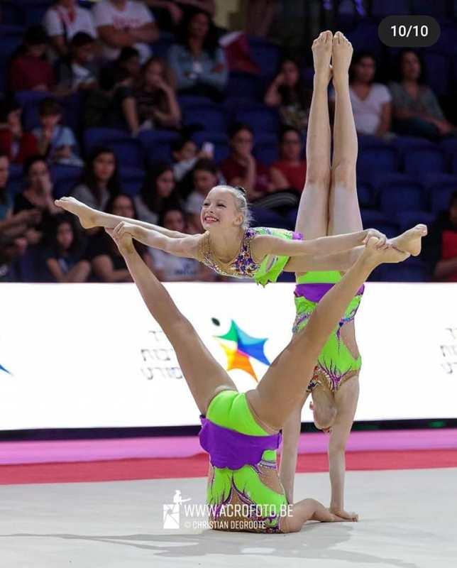 Акробатки из Аккермана стали финалистами Чемпионата Европы по спортивной акробатике