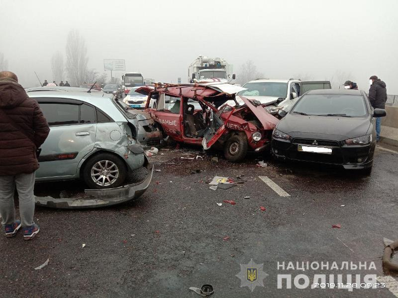 Под Одессой в районе Клеверного моста из-за тумана произошло 3 масштабных ДТП - есть пострадавшие и погибший