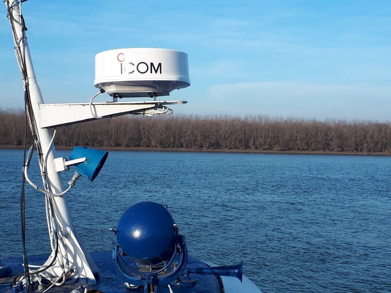 Ренийский порт купил радиолокационную станцию, которую установили на теплоход ледового класса, единственного в Дунайском регионе