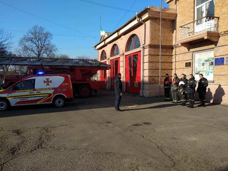 Завыли пожарные сирены: спасатели Бессарабии приобщились к всеукраинской акции памяти погибшего в Одессе коллеги
