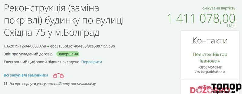 В Болграде определили, кто доделает кровлю недостроенного жилого дома для медиков
