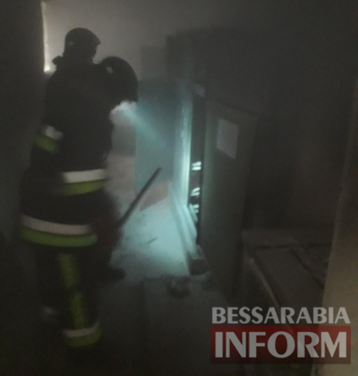 В пристройке к Килийской гимназии возник пожар в электрощитовой. Обошлось без пострадавших, но учеников эвакуировали