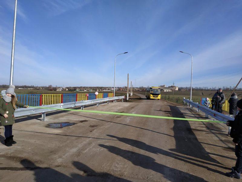 В Белгород-Днестровском районе восстановили мост через реку Алкалия, разрушенный во время наводнения