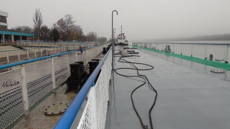 В Измаиле на морвокзал прибыли два отремонтированных понтона - ремонт проводился впервые за 40 лет