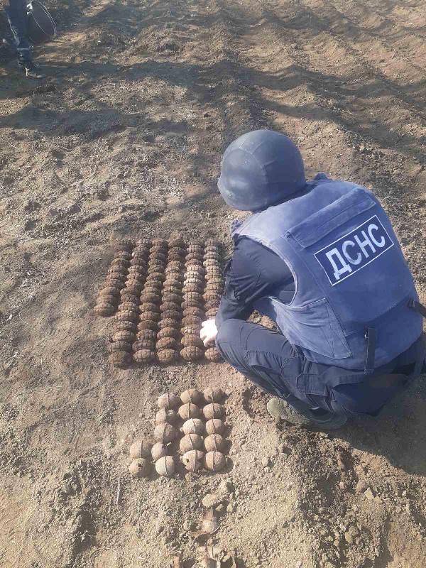 Житель Саратского района обнаружил на своём огороде более 100 ручных гранат времен Второй мировой войны