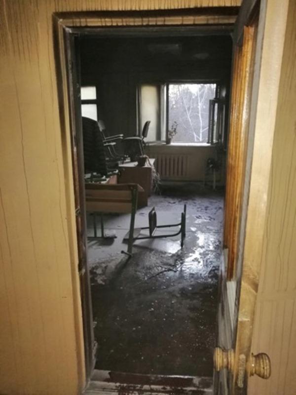 В Одесской области горел класс в школе для детей-сирот