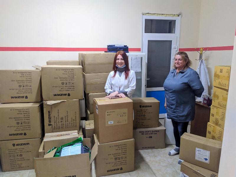 Измаильская ЦРБ получила средства защиты от одесского благотворительного фонда