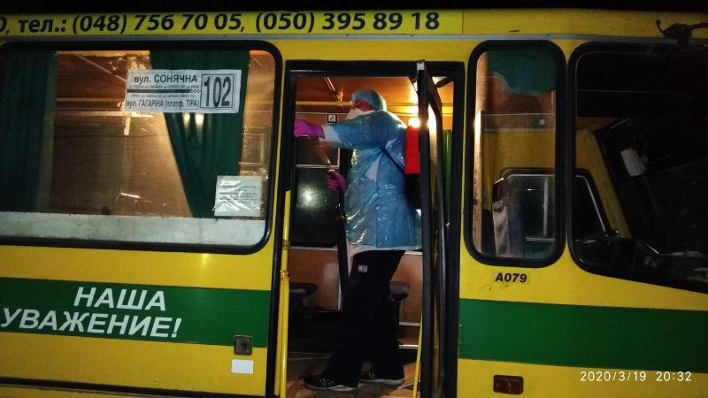В Белгороде-Днестровском еженедельно проводят санобработку пассажирских автобусов