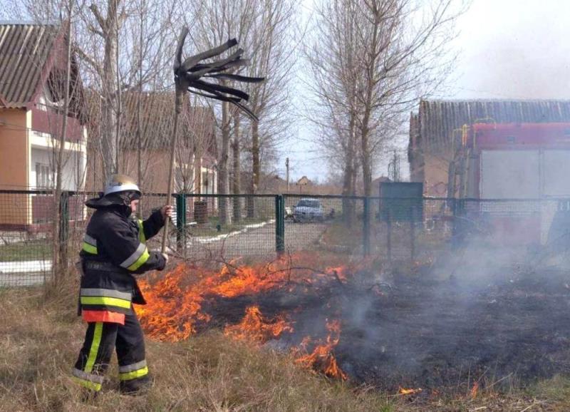 Белгород-Днестровский р-н: горящий сухостой чуть не стал причиной пожара на базе отдыха в Затоке