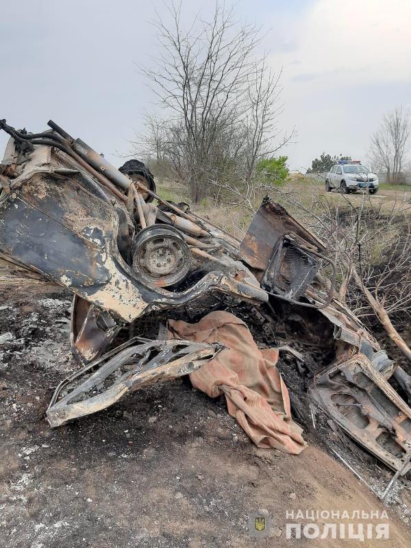 Смертельное ДТП в Одесской области: ВАЗ съехал в кювет и загорелся. Погиб водитель