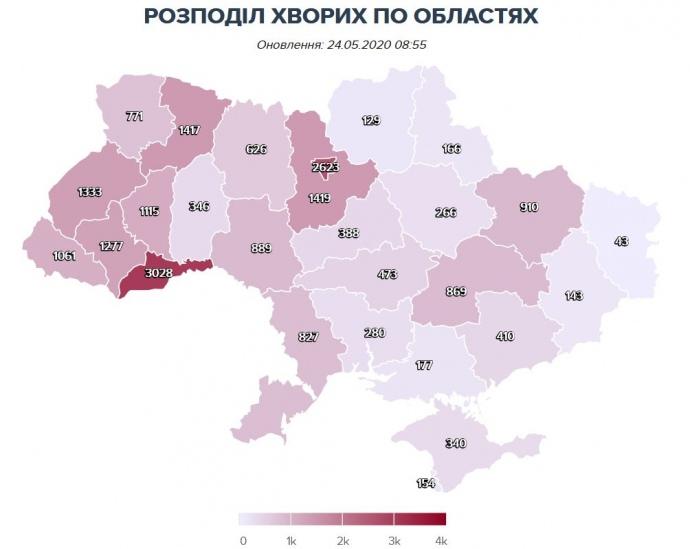 В Украине обнаружили 406 новых зараженных коронавирусом, погибли еще 12 больных. В области 6 новых случаев