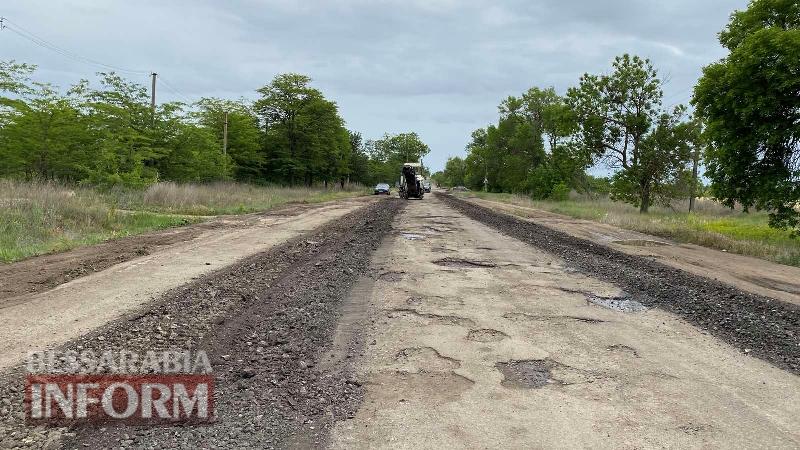 В Килии начался ремонт дороги в направлении села Червоный Яр