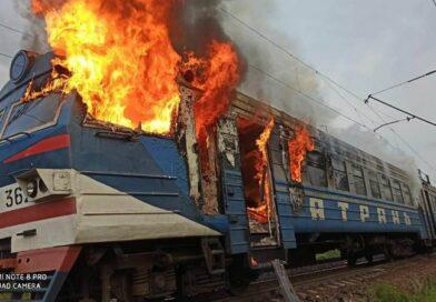 На Одесской железной дороге сгорел вагон электрички