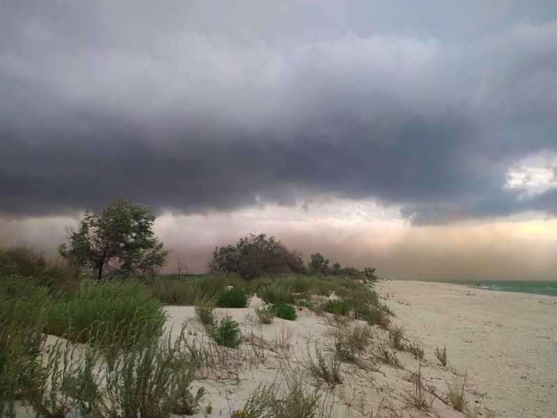 Вблизи одного из курортных поселков Татарбунарского района пронеслась песчаная буря