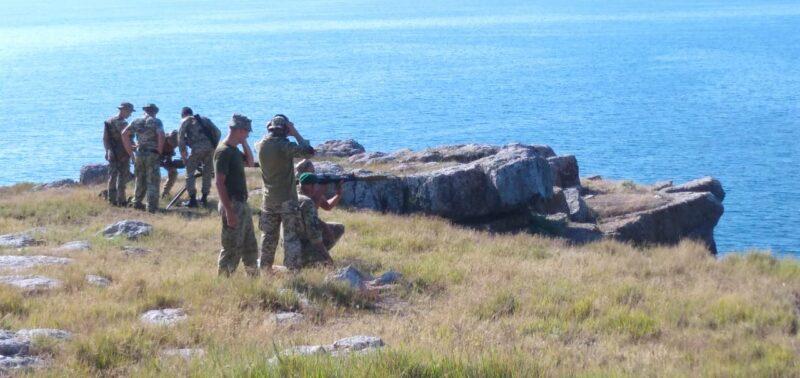 Стрельбы на Змеином: посреди моря пограничники стреляли из гранатометов, пулеметов и другого оружия