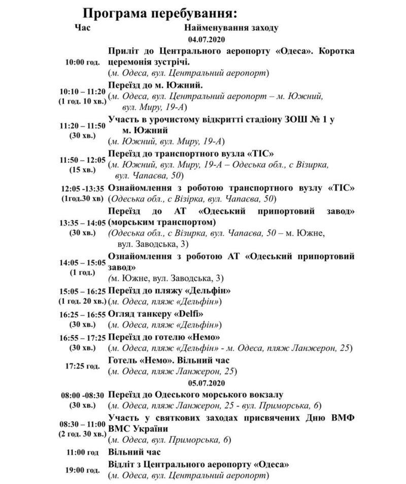 Президент Владимир Зеленский приехал в Одесскую область