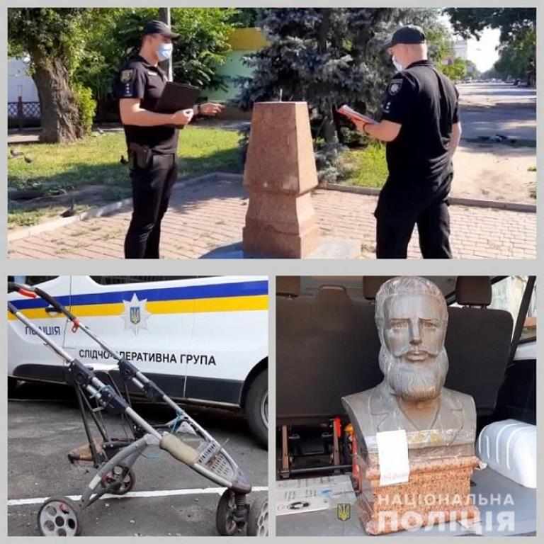 В Одессе житель Арциза пытался украсть бюст известного болгарского поета и публициста Христо Ботева
