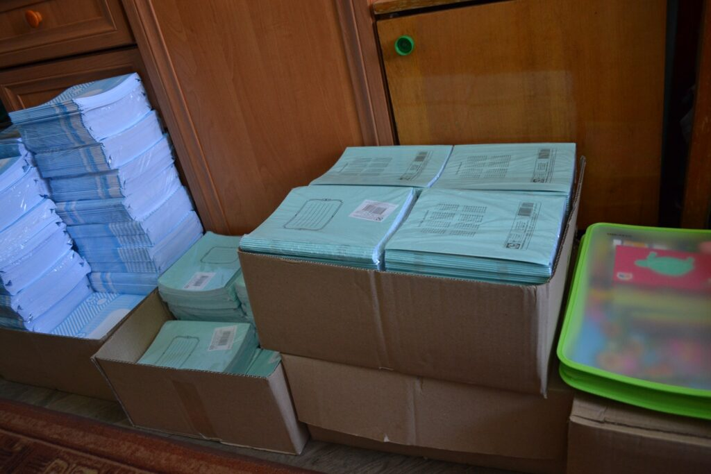 44 семьи Болградского района бесплатно получили канцтовары для школьников