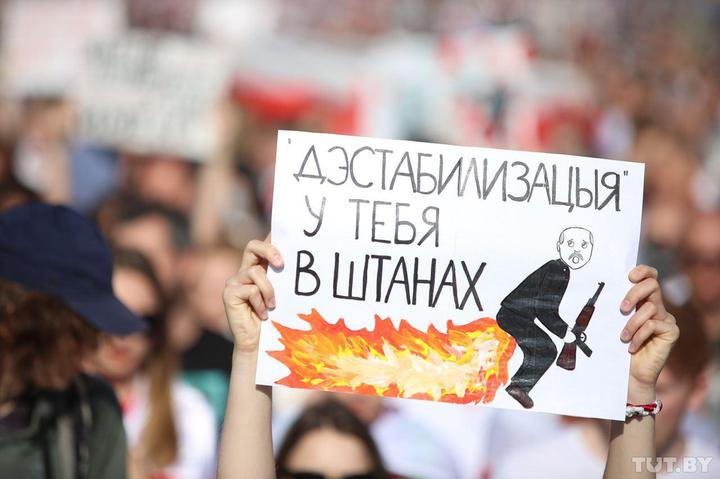 Народная толпа, задержания ОМОНа и водомёт. Что происходит сегодня в Беларуси?