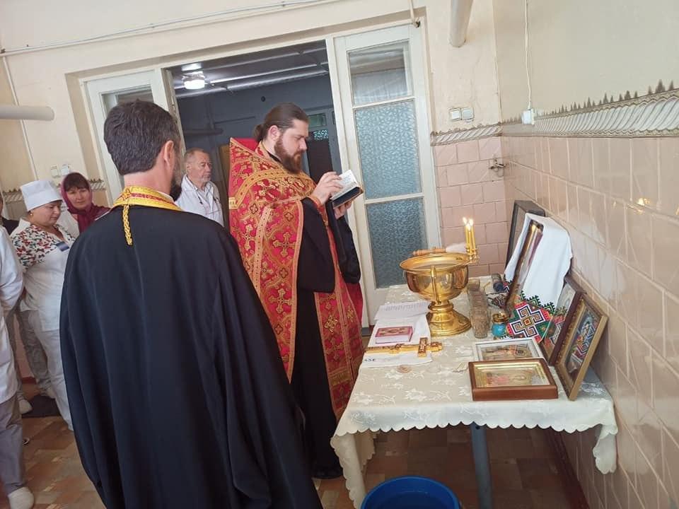 Протоиерей Павлов провел освящение хирургического отделения в Татарбунарской ЦРБ
