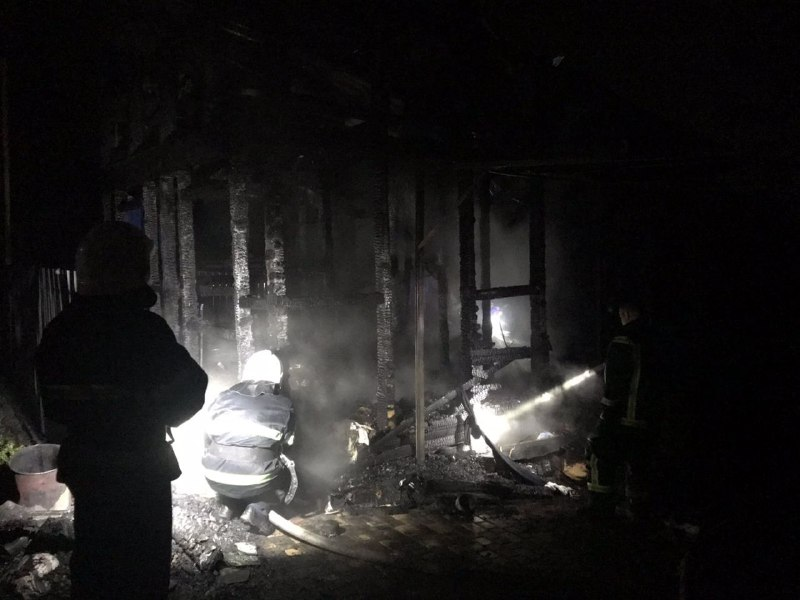 В Одесской области полностью сгорели двухэтажный дом и электромобиль: пожар унес жизнь женщины