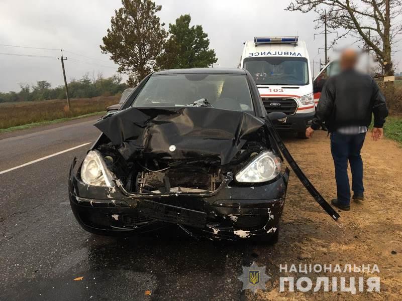Под Одессой столкнулись две легковушки: в результате ДТП пострадали семь человек, в том числе двое детей