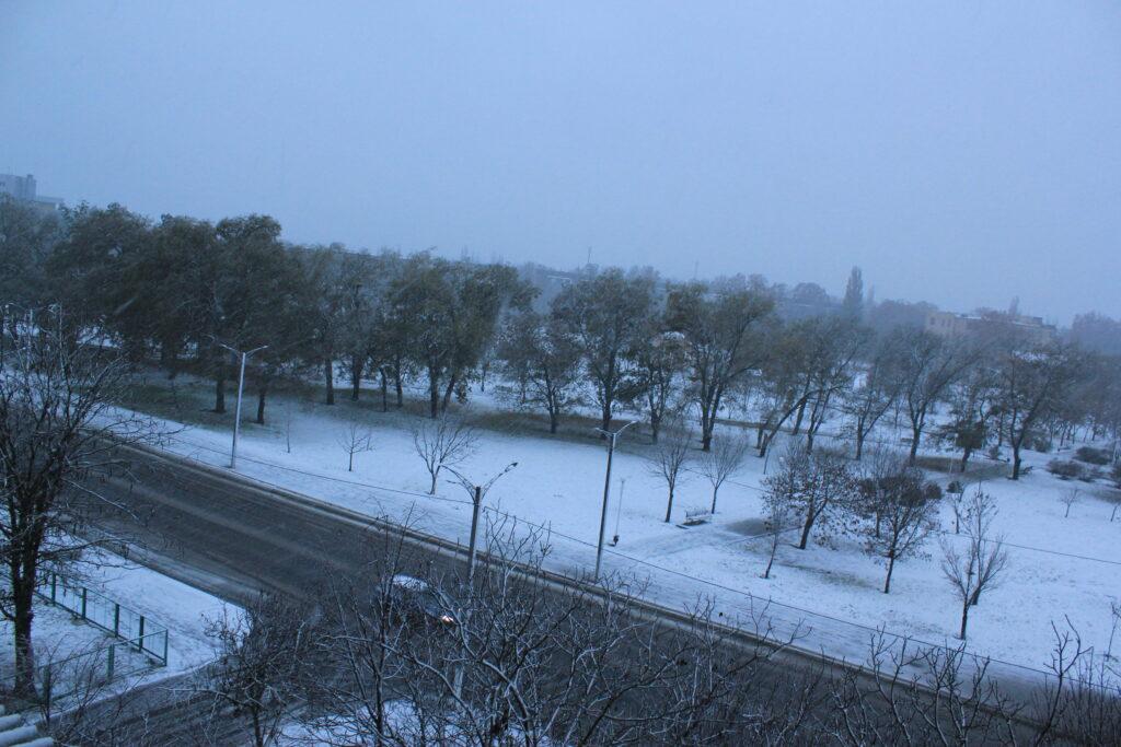 В Измаиле выпал первый снег