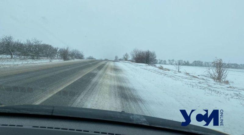 """Ледяная корка на дороге и участившиеся ДТП: как сейчас выглядит трасса """"Одесса-Рени"""""""
