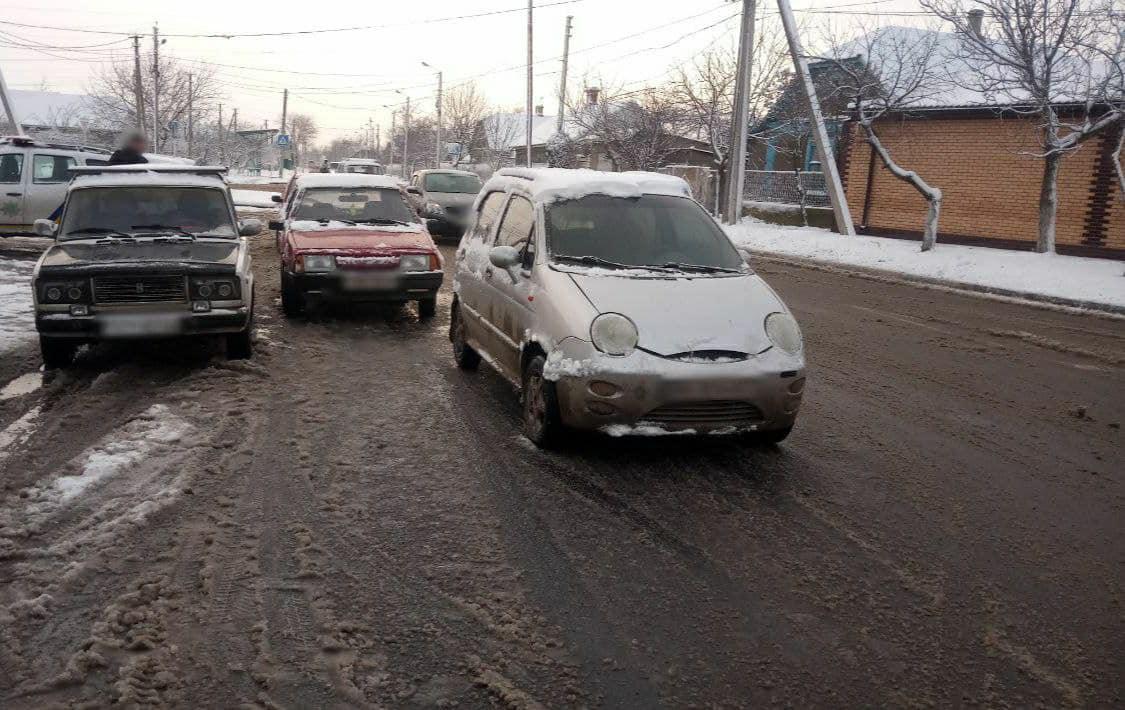 Снежным утром в Измаиле произошло два ДТП