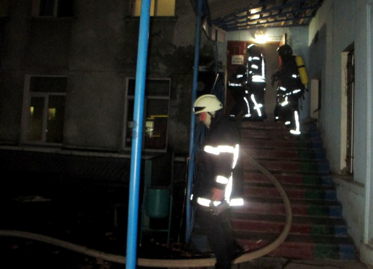 """Очередной пожар в Одессе, но, к счастью, без жертв - горела больница """"Водников"""""""