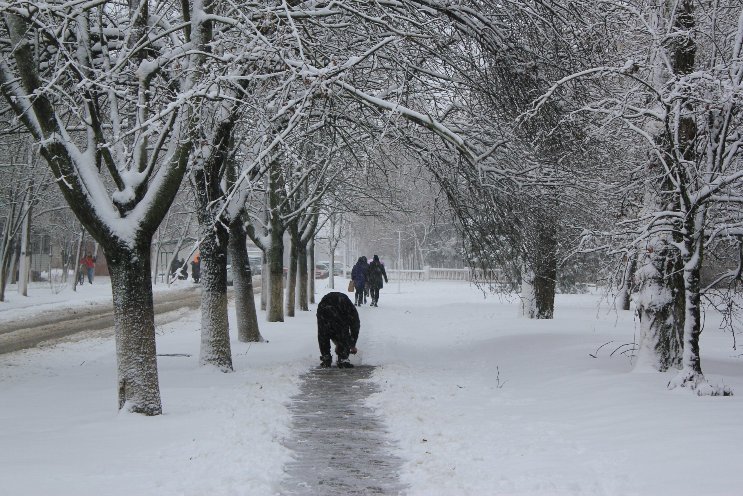 Измаил в снежных объятьях. Фотопрогулка