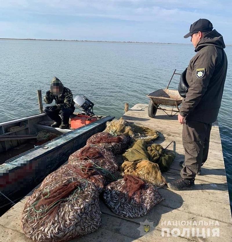 В Белгород-Днестровском районе поймали браконьера с солидным уловом
