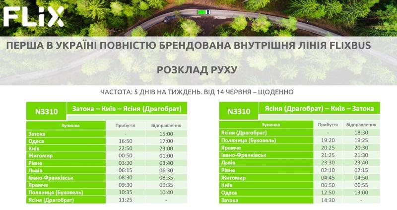 С 20 мая между Затокой и Драгобратом будет курсировать брендированный автобус