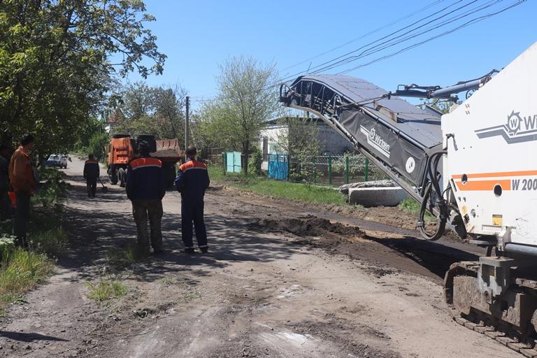 В Арцизе стартовал ремонт городской дороги за счет местного бюджета