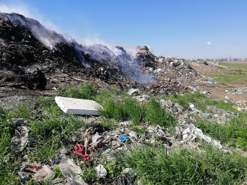 В Белгород-Днестровском районе произошел пожар на свалке
