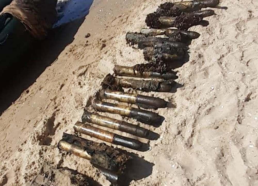 Возле курортной Лебедевки со дна моря подняли 5,7 тысяч боеприпасов времен Второй мировой войны