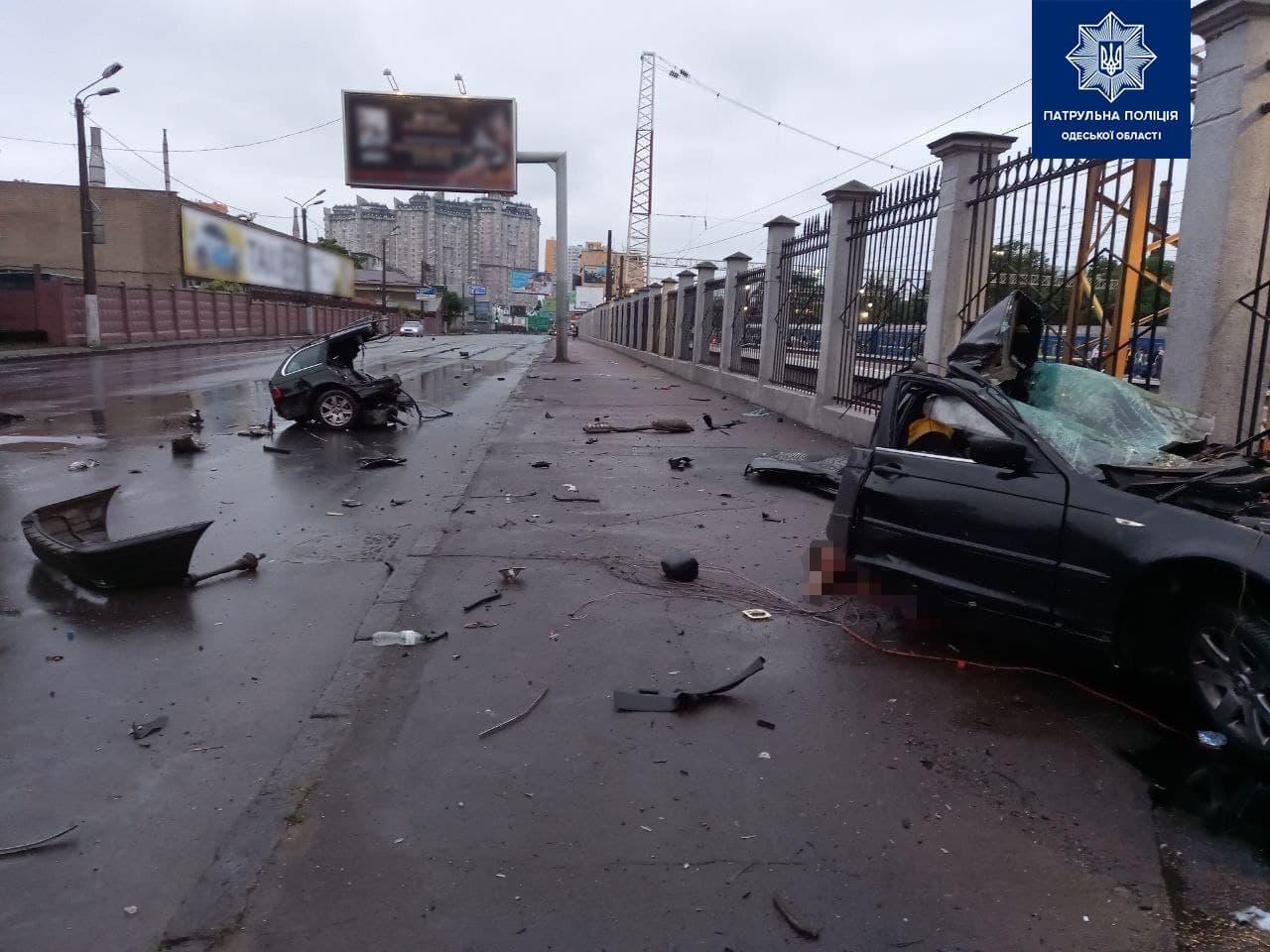 Три трупа и двое пострадавших: за одно утро в Одессе произошло два смертельных ДТП