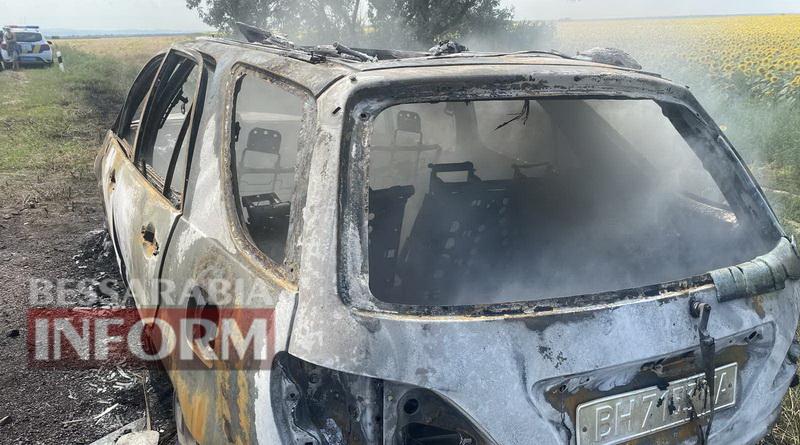На трассе Одесса-Рени в Измаильском районе сгорел дотла еще один Lexus