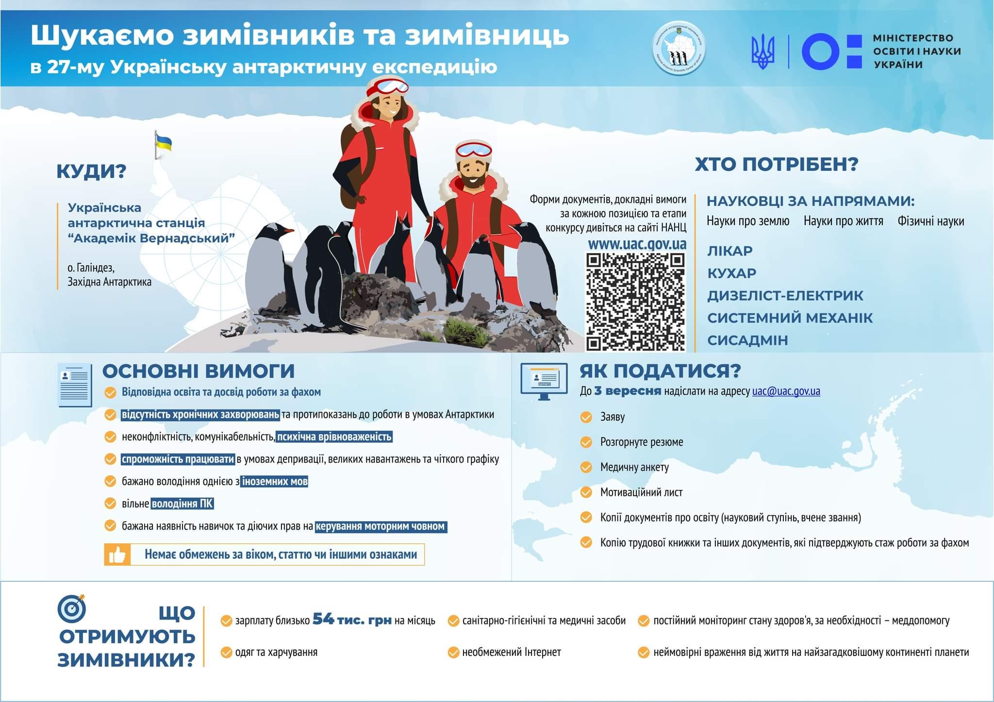 В Одессу придет купленный за 5 млн долларов ледокол. Украинцев приглашают отправиться в Антарктиду, зарабатывая по 54 тыс. грн в месяц